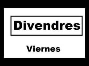Aprender catalan..dias de la semana   YouTube