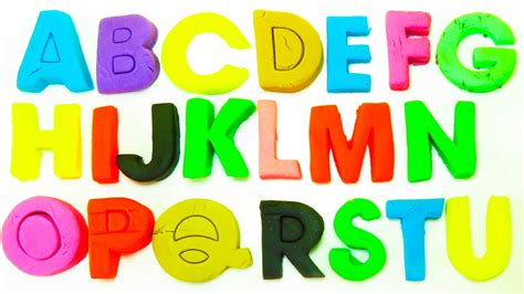 Aprender el Alfabeto con play doh en español | Todas las ...