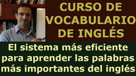 Aprender ingles online   Curso Vocabulario ingles con ...
