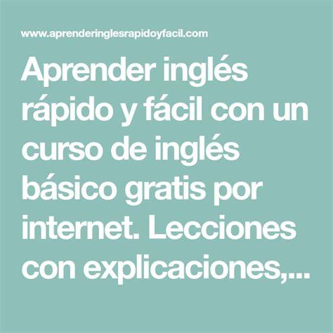Aprender inglés rápido y fácil con un curso de inglés ...