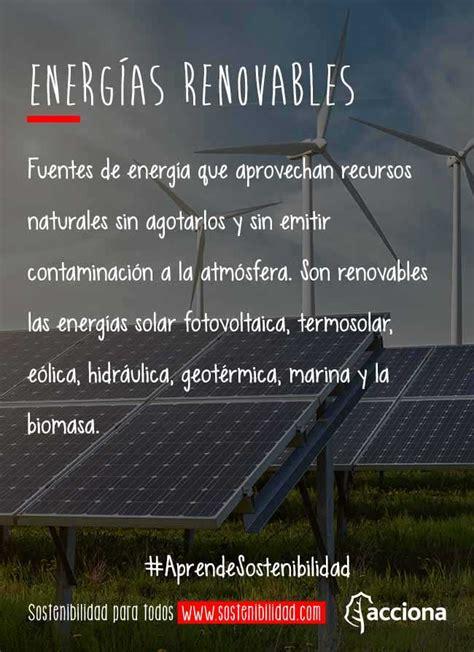#AprendeSostenibilidad: Energías renovables
