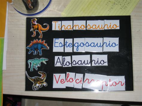 Aprendiendo a Ser: Nombres de Dinosaurios