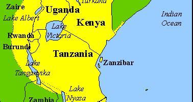 Aprendiendo swahili: Principal zona de habla del swahili