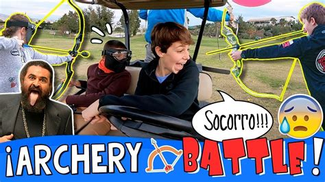 ARCHERY KART BATTLE!!  RETOS con ARCOS en KARTS + Juego ...