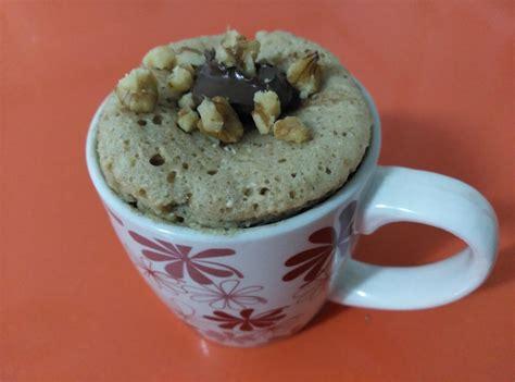 Archivando Recetas: Bizcocho de avena y nutella en taza ...