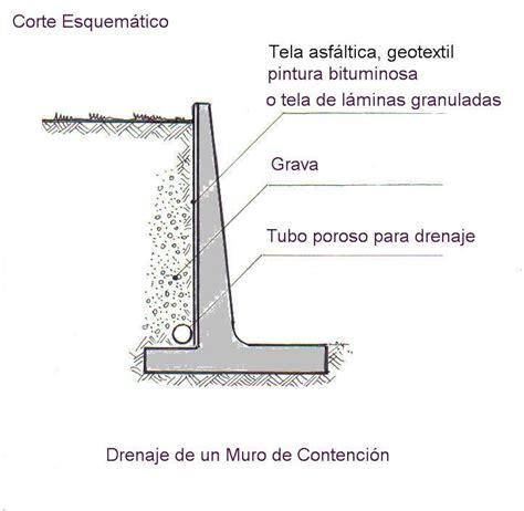 Archivo:Drenaje de un muro de contención.jpg   Muro de ...