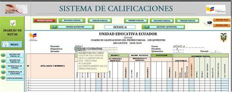 Archivo en Excel para el Control de calificación para ...