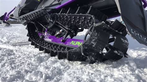 Arctic Cat 2019 Alpha One track articulation   YouTube