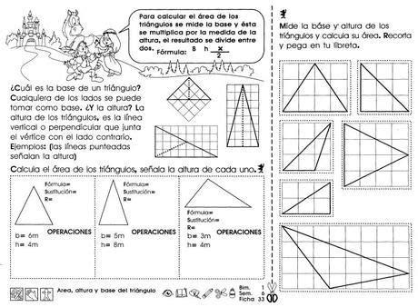 Área, altura y base del triángulo: 5to grado | paisajes ...