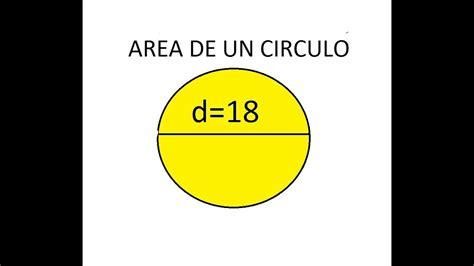 Area de un circulo conociendo el diametro   YouTube