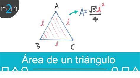 Área de un triángulo equilátero │ fórmula con su lado ...