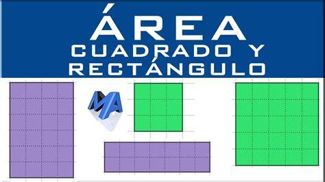 Área del cuadrado y rectángulo con o sin fórmulas   YouTube