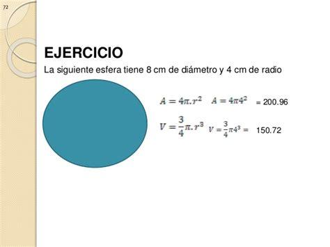 area y volumen de una esfera