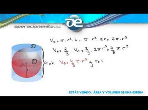 Área y volumen de una esfera   Operacionexito.com   YouTube