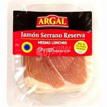 Argal Jamón serrano reserva media loncha Sobre 200 g
