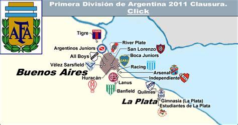 Argentina, 2011 Clausura. « billsportsmaps.com