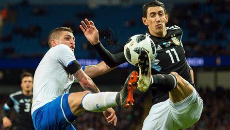 Argentina   Italia, en directo hoy el partido amistoso
