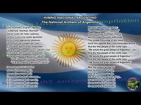 Argentina National Anthem with music, vocal and lyrics ...