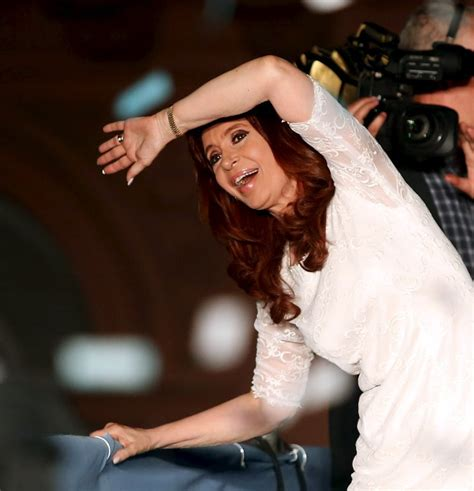 Argentina s Christina Fernandez bids farewell as president ...