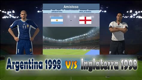 Argentina vs Inglaterra   Selecciones Mundial Francia 1998 ...