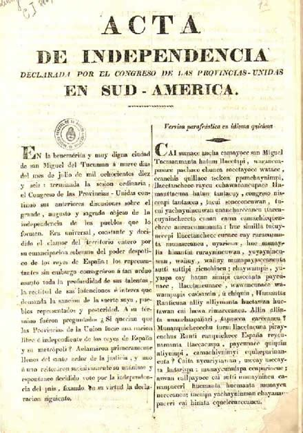 Argentine Declaration of Independence   Wikipedia