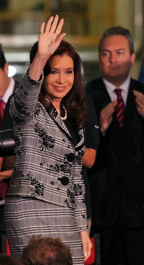 Argentine President Cristina Fernandez de Kirchner ...