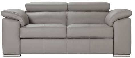 Argos Home Valencia 2 Seater Leather Sofa   Light Grey ...