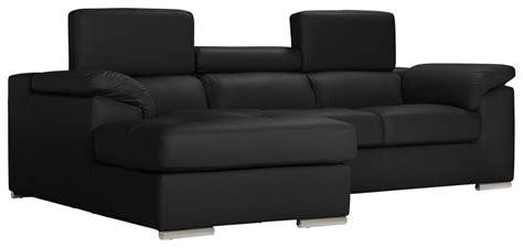 Argos Home Valencia Right Corner Leather Sofa   Black ...