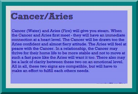 aries cancer compatibility   Google Search   Me   Aries ...