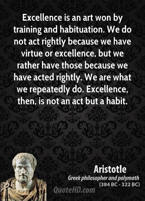 Aristotle Art Quotes | QuoteHD | Excellence quotes