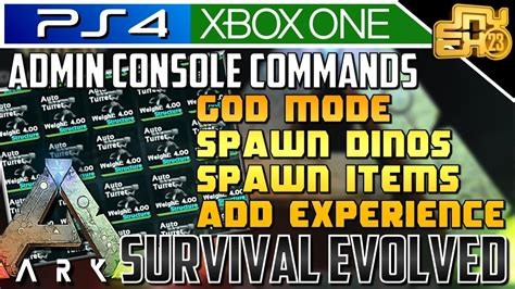 ARK ADMIN CONSOLE COMMANDS!  HOW TO SPAWN ITEMS    YouTube