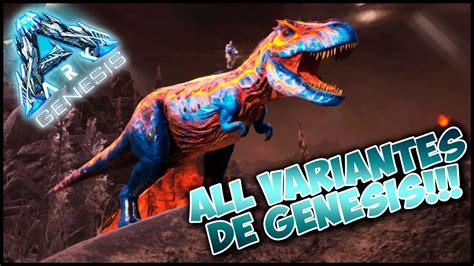 ARK Comandos | Todas las Variantes de Dinos en Génesis ...