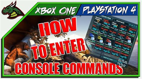 ARK! HOW TO USE CONSOLE COMMANDS XBOX ONE!!   YouTube