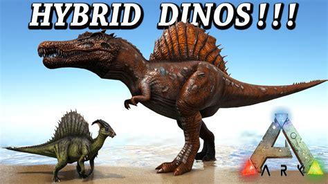 ARK HYBRID DINOS!! SPINOREX MOSAREX & MUCH MORE!! Ark ...