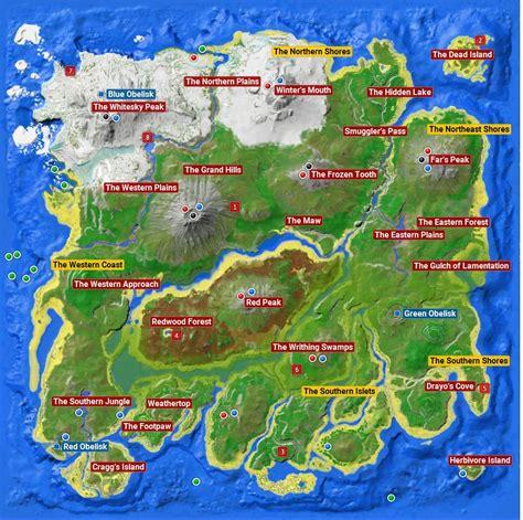 ARK: Map   artifacts, bosses   ARK Survival Evolved Guide ...