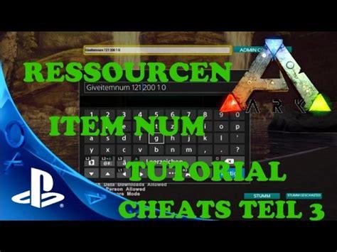 ARK PS4 CHEATS TEIL 3   ADMIN COMMAND RESSOURCEN Let s ...