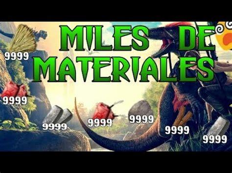 ARK PS4   TODOS LOS COMANDOS DE MATERIALES   YouTube