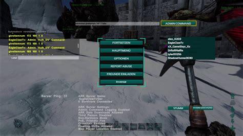 Ark Survival Evolved Admin Command Cheats für Waffen und ...