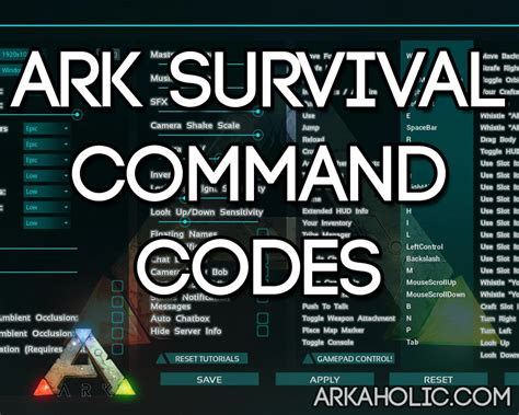ARK Survival Evolved Command Codes & Cheats