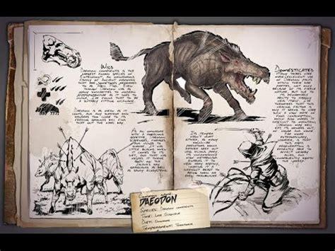 ARK Survival Evolved Dino Dossier   Daeodon   YouTube