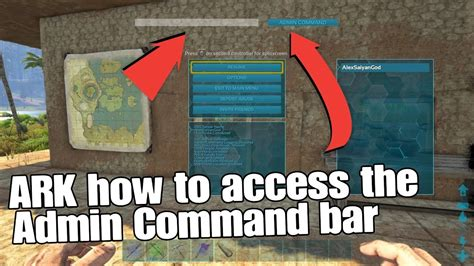 ARK Survival Evolved How to access the admin command bar ...