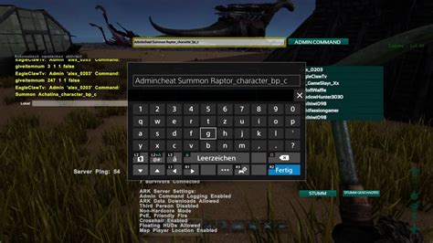 Ark Survival Evolved PS4 Cheats / Admin Command für Raptor ...