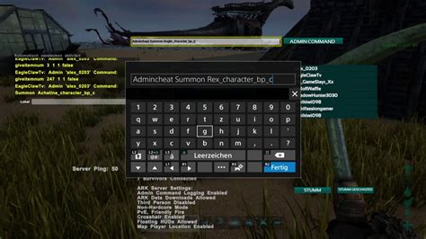 Ark Survival Evolved PS4 Cheats / Admin Command für Rex ...