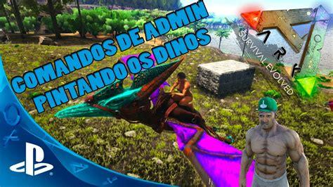 ARK: Survival Evolved PS4   COMO PINTAR OS DINOS USANDO ...