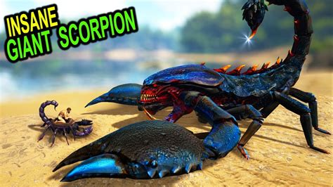 ARK THIS GIANT SCORPION CUTS EVERYTHING!! Ark Survival ...