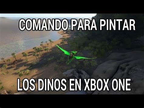 [ARK XBOX ONE] COMANDO PARA PINTAR LOS DINOS   YouTube