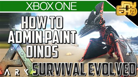ARK XBOX ONE   HOW TO PAINT YOUR DINOS   ADMIN PAINT ...