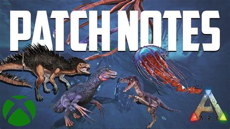 Ark Xbox Update 749.0 PATCH NOTES!!! Tusoteuthis, Troodon ...