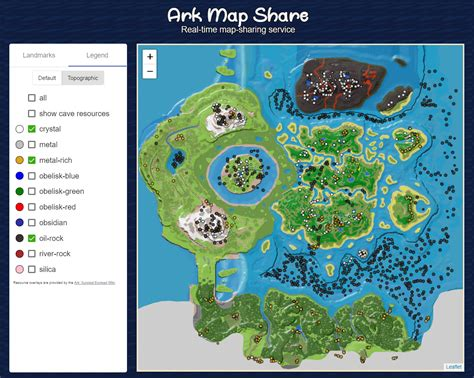 ArkMapShare.com adds Ark Wiki resources to 8 maps : arkps4