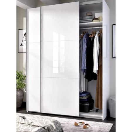Armario con puertas correderas Slide 150 blanco brillo